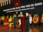 越南国家主席陈大光追悼会在河内和胡志明市举行(组图)