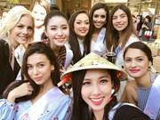 阮菽垂仙代表越南参加2018年国际小姐选美大赛(组图)