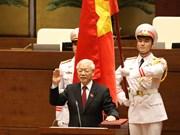 阮富仲同志宣誓就任2016-2021年任期国家主席(组图)