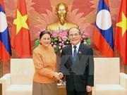 国会主席阮生雄会见老挝国会主席巴妮•雅陶都