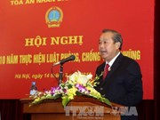 越南各级人民法院积极主动实施《反腐败法》