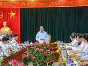 阮春福副总理检查奠边省国会代表及各级人民议会代表换届选举筹备工作