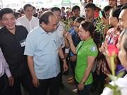 越南政府总理阮春福与南方3000工人及劳动者举行对话
