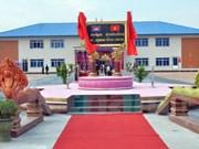 越南援建柬埔寨皇家军队军官培训学校礼堂正式落成投用