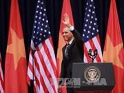 美国总统奥巴马在越南国家会议中心发表的重要演讲