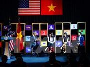 美国总统奥巴马同越南年轻企业家举行交流会