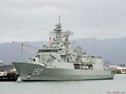 澳洲海军纽澳军团级巡防舰访问越南