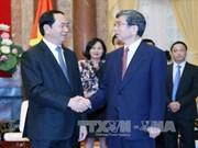 越南国家主席陈大光:越南一向重视与亚行的合作关系