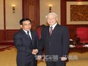 越共中央总书记阮富仲会见老挝国家副主席潘坎•维帕万