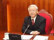 越共中央总书记阮富仲对郑春青腐败案后续处置的指导意见