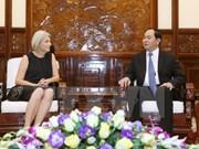 越南国家主席陈大光会见丹麦驻越大使