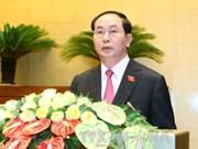 越南第十四届国会第一次会议:深信国家主席将出色完成任务