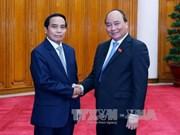 阮春福总理会见老挝国家监察署长兼反贪局长本通·吉马尼