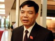 新任农业与农村部长阮春强:大力推进农业结构调整与新农村建设相结合