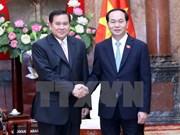 国家主席陈大光和政府副总理武德儋会见泰国副总理塔纳萨·巴迪玛巴功
