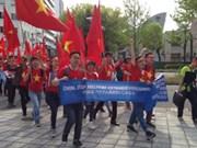 旅居日本越南人上街游行呼吁中国尊重国际法