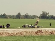L-39飞机训练中坠毁