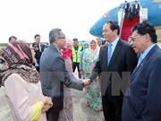 越南国家主席陈大光开始对文莱进行国事访问