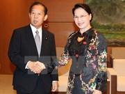 越南国会主席阮氏金银会见日越友好议员联盟主席二阶俊博