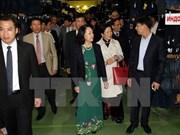 越共中央民运部部长张氏梅访问俄罗斯