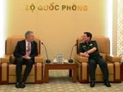 国防部部长吴春历大将会见美国驻越大使特德奥修斯