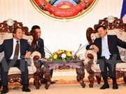 张明俊部长拜会老挝政府总理通伦•西苏里