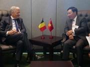 越南政府副总理兼外长范平明与各国领导进行双边会晤