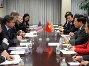 越南副总理兼外长范平明会见美国常务副国务卿布林肯