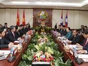 越南国会主席阮氏金银同老挝国会主席巴妮•雅陶都举行会谈