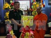 越南南部地区高棉族同胞喜迎报孝节