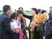 越南国会主席阮氏金银会见旅居柬埔寨越南侨胞