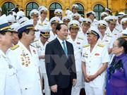 越南国家主席陈大光接见海上胡志明小道老战士代表团