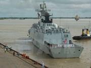 中国海军531编队访问柬埔寨