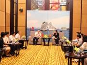 越南广宁省省委常务副书记会见中国广西壮族自治区防城港市代表团