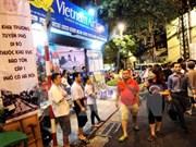 越南河内市还剑湖周边步行空间每日客流量超过2万人次