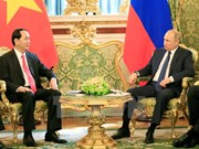 越南国家主席陈大光与俄罗斯总统普京举行会谈(组图)