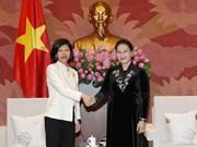 越南国会主席阮氏金银会见加拿大和美国驻越大使(组图)