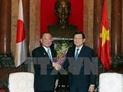 越南国家主席张晋创会见日本参议院议长山崎正昭