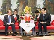 国会主席阮生雄会见中国湖南省委书记、省人大常委会主任徐守盛