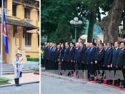 越南举行东盟旗升旗仪式 庆祝东盟共同体正式建成