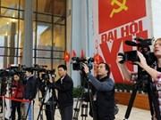 越南国内外记者在越共十二大召开期间开展采访报道活动