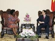 越南政府总理阮晋勇会见世行驻越首席代表维多利亚•科瓦