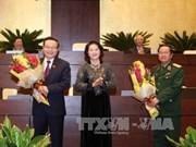 越南第十三届国会第十一会议选举产生两位新国会副主席和国会六个委员会新主任等职务