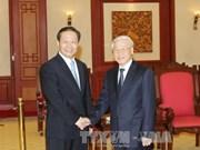 越南党和政府领导会见中国客人
