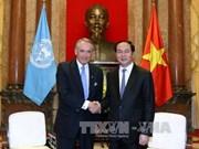 越南国家和政府领导人会见来访的外国客人