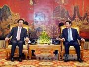 越南政府副总理王廷惠会见中国上海市委书记韩正