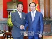 越南国家主席陈大光会见日越关系特别大使杉良太郎