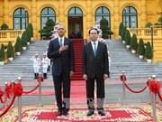 越南国家主席陈大光举行隆重仪式 欢迎奥巴马到访(组图)