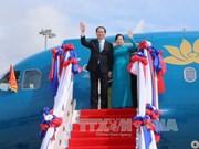 越南国家主席陈大光对老挝进行国事访问的相关活动(组图)