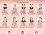 越南第十四届国会主席、副主席和13名国会常委会委员
